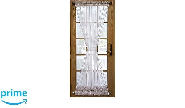 Natural Ricardo Trading 03600-45-045-02 Sea Glass Semi-Sheer Door Panel