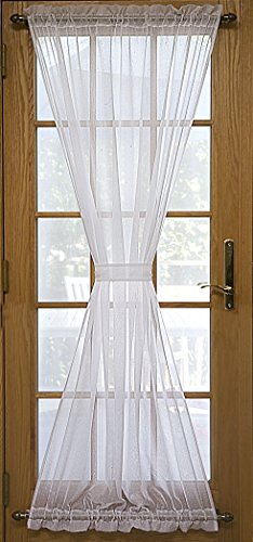 Ricardo Trading 03600-45-072-01 Sea Glass Semi-Sheer Door Panel, White by Ricardo Trading