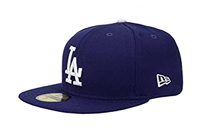 New Era. 59Fifty Hat Los Angeles Dodgers MLB Baseball Royal Blue Fitted Cap