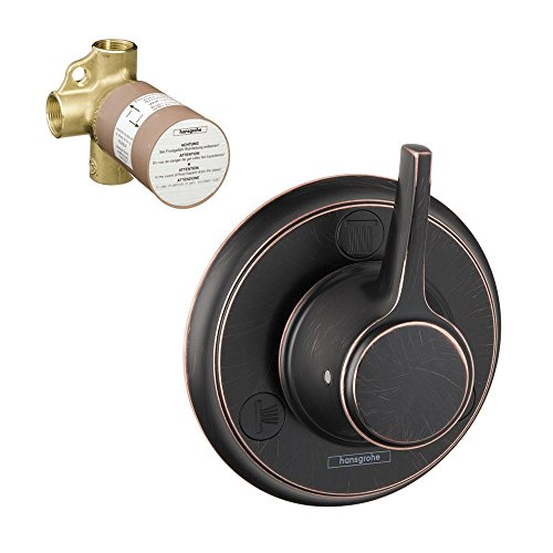 Hansgrohe K15934-15984RB-2 C Trio/Quattro Trim with 2-Way Diverter Rough-In, Rubbed Bronze (Trio Diverter)