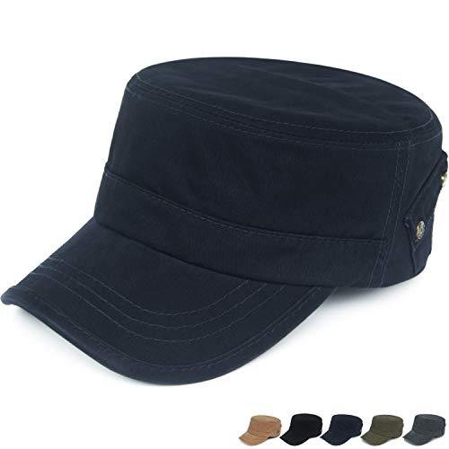 REDSHARKS Women Large Cadet Cap Flexfit Adjustable Cadet Hat With Pocket US Navy Blue