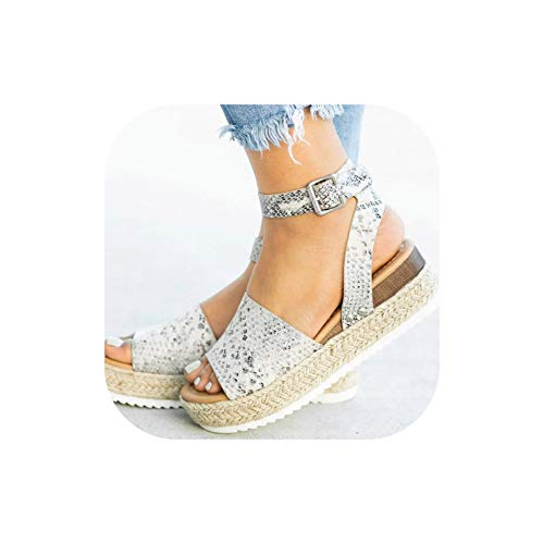 Women Plus Size Wedges High Heels Sandals Summer Flip Flop Platform Sandals,Python,8.5