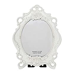 Oval Frame with Crystals and Roses