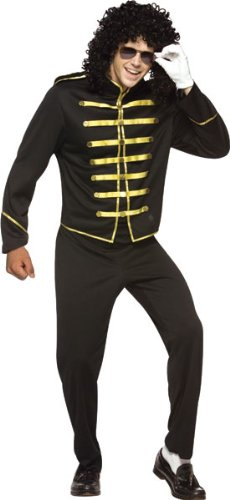 Rasta Imposta 80s Pop Star Michael Jackson Adult Halloween Costume, Multicoloured, Standard 36-42