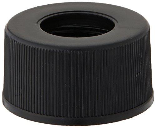 JG Finneran 5310-15 Black Polypropylene Screw Threaded Open Hole Cap for Dram Vials, 15-425mm Cap Size (Case of 1000)