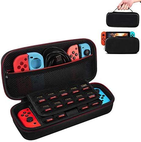 Funda para Nintendo Switch con Soporte,Case de protección para Nintendo Switch, Bolsa Transporte Ligera Case con más Espacio de Almacenamiento para 19 Juegos para Accesorios Nintendo Switch: Amazon.es: Videojuegos