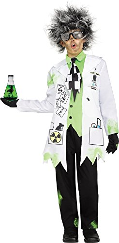 Fun World Mad Scientist Costume, Medium 8-10, Multicolor -