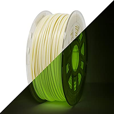 Gizmo Dorks 3mm (2.85mm) HIPS Filament 1kg / 2.2lb for 3D Printers, Glow in the Dark Green