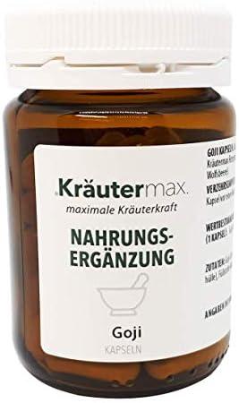 Kräutermax Goji Beeren Kapseln Hochdosiert 1 x 75 Stk. Lycium Barbarum Extrakt
