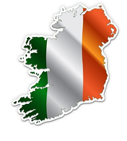 Country Map Of Ireland.Amazon Com Magnet Ireland Flag Country Map Pride Magnetic Vinyl