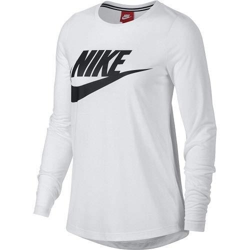 Nike shirt Essential Top T Donna Bianco Hbr rwrIxd5B