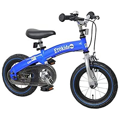 DalosDream - 12X 2-in-1 Balance to Pedal Bike Kit- Balance Bike Set with Steel Frame, Adjustable Handlebar and Seat Ages 3-7 Years (Blue, 12X): Sports & Outdoors