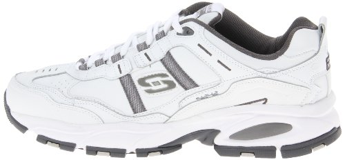 Skechers Sport Men's Vigor 2.0 Serpentine Memory Foam Sneaker,White/Charcoal,10 M US by Skechers (Image #5)