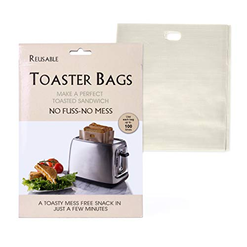 Non Stick Toaster Bags (Set of 6), Ankway Reusable Sandwiches Grilled Cheese Heat Resistant Microwave Oven Toaster Bags for Pizza Panini & Garlic Easy to Clean