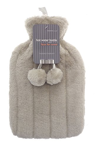 Hot Water Bottle with Best Faux Fur Plush Cover 2L (Thermal Hot Water Bottle compare prices)
