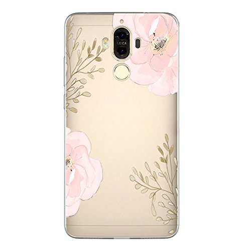 Huawei Mate 9 Case Soft TPU Crystal Clear Transparent Slim Anti Slip Back Cover (Color5)