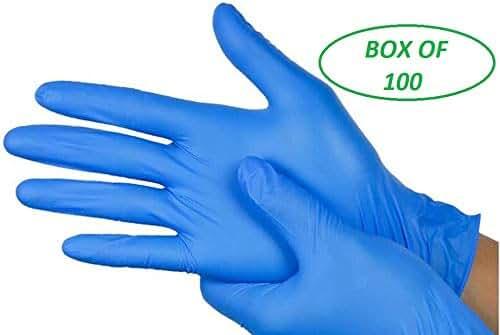 mediano 48 paquetes de guantes desechables de nitrilo sin polvo Grippaz/® 308 M resistencia extra y destreza azul