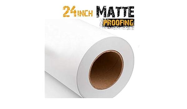 Rollos de papel a prueba de agua mate de 60 cm, 180 g/m², 45 m: Amazon.es: Oficina y papelería
