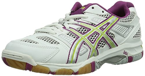Asics Shoes Lightning UK Fuchsia Womens Volleyball White Gel White 0136 7 Tactic H1nIrwxOqH