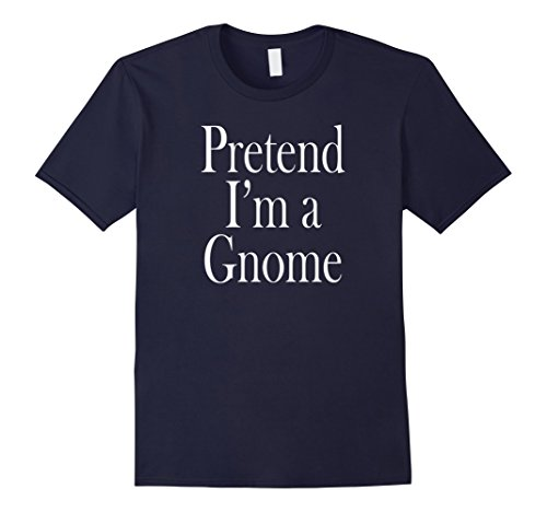 [Mens Gnome Costume T-Shirt for the Last Minute Party Large Navy] (Gnome Costume Mens)