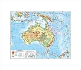 Australia 1 12 100 000 Mapa Polityczna I Fizyczna ĺcienna Unknown