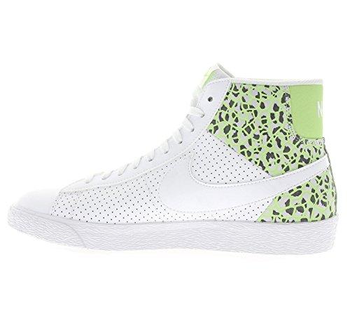 Wmns De white White Zapatillas Pltnm Prm pr Mid Grn Mujer Blazer ghst Para Deporte Nike Blanco WgcdXqX