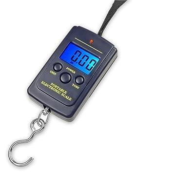 SORA H® Bascula Digital LCD De Mano Colgar Equipaje 40Kg Peso Pesca Maletas Dinamometro: Amazon.es: Electrónica