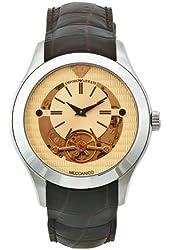 Emporio Armani Men's AR4641 Meccanico Brown Leather Band Watch