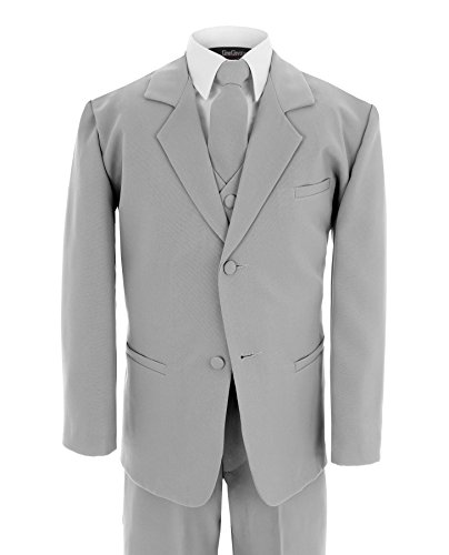 Formal Suit Set Silver for Boys from Baby to Teen (XL (18-24 Months))