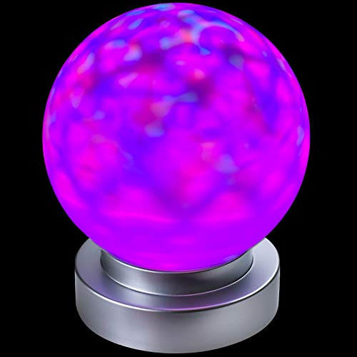 Kicko 6 Inch Kaleidoscope Lamp - Magical Crystal Ball Desk Light - Perfect for Birthdays, Home Decor, Bedroom, Disco, Evening Shows, LED Props, Spotlight, Rave, Party Favor, and Gifts