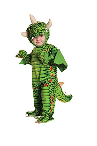 [Underwraps Baby's Dragon, Green/Black/Red, Small(6-12Months)] (Costumes For Moms And Babies)