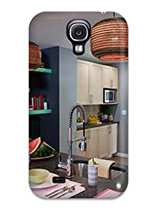 Tough Galaxy Case Cover Case For Galaxy S4 Moroccan Kitchen With Tiled Backsplash And Stainless Appliances