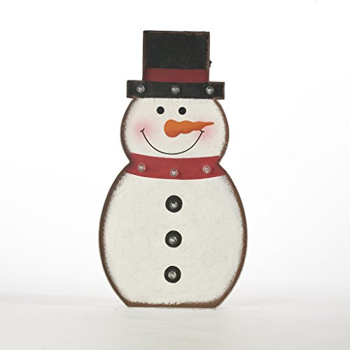 Outdoor Lighted Snowman Outdoor snowman decorations lighted amazon glitzhome 1976 christmas marquee led lighted snowman sign battery operated workwithnaturefo