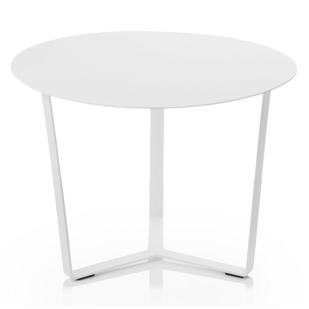 SiBrand Evergreen tavolino tondo in alluminio 45cm bianco arredo esterno EG50570
