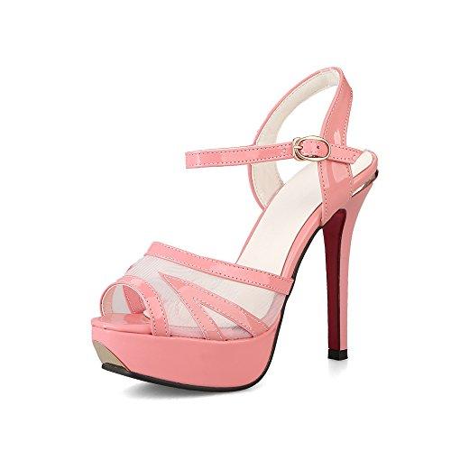 Sandali Tacchi Scarpe Spillo rosa amp;X Strappy Donna QIN a AnzxE1zR