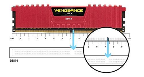 Corsair CMK32GX4M4B3600C18 Vengeance LPX 32GB DDR4 DRAM 3600MHz C18 Kit, Black