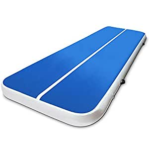 Air Track Gymnastics Inflatable Airtrack Mat 4M X 2M Tumble Floor Gymnastic Training Cheerleading Yoga Gym Professional Equipment Everfit Home Indoor Outdoor Blue 20CM Thick