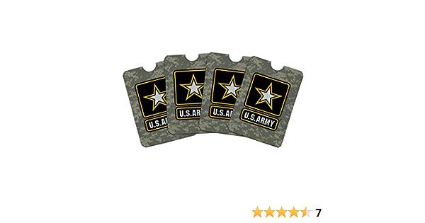 Army Logo on Camo Credit Card RFID Blocker Holder Protector Wallet Purse Sleeves Set of 4 U.S
