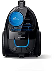 PHILIPS PowerPro Compact black: 1800W, 330W suction power, Power Cyclone 5 technology, integrated brush, HEPA filter, easy to empty dust bucket, 1.5L dust capacity FC9350/61.