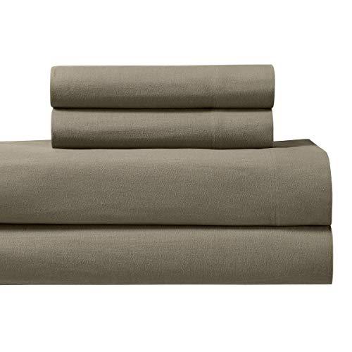 Deluxe Tradition Beautiful Heavy Duty Twin Extra Long (Twin XL) Sized Flannel Sheet Set; 100% Cotton; Creamy -
