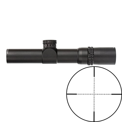 ohhunt Guardian 4.5x24 Hunting Rifle Scope Second Focal Plane 30mm Tube Tactical Optics Sight, 1/2 Half Mil Dot Reticle, with 20mm mount, Turrets Reset Riflescope by ohhunt
