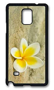 MOKSHOP Awesome white yellow plumeria Hard Case Protective Shell Cell Phone Cover For Samsung Galaxy Note 4 - PCB