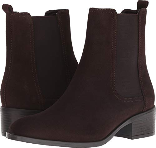 Kenneth Suede Cole Sandals (Kenneth Cole REACTION Women's Salt Chelsea Pull On Flat Bootie Ankle Boot, Chocolate, 11 M US)