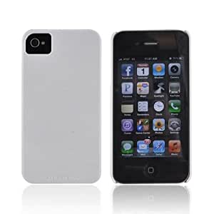 For AT&T Verizon Apple iPhone 4 iPhone 4S Solid White OEM Case Mate Barely There Hard Case CM015559