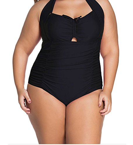 [Christmas TomYork Plus Size Non-underwire Monokini(Color1,4XL)] (Witch Coustumes)