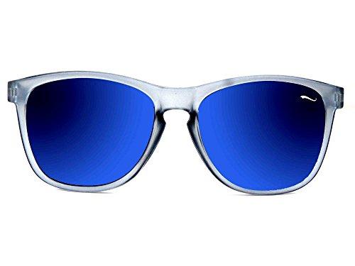 Cluum soleil Homme Lunettes Transparent de bleu rUwrqEa