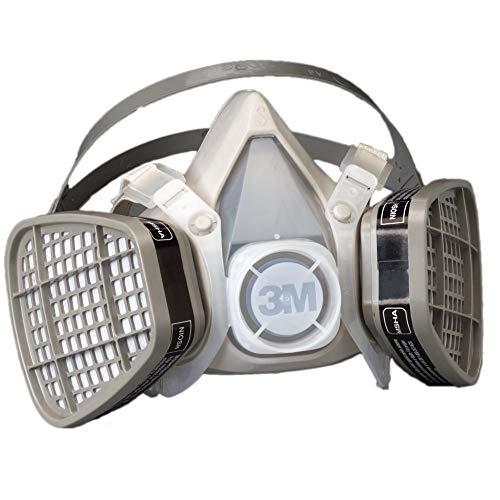 3M Half Facepiece Disposable Respirator Assembly 5101/21565, Organic Vapor Respiratory Protection, Small (Pack of ()