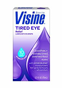 Visine Tired Eye Relief, 0.5 Fluid Ounce (Pack of 2)