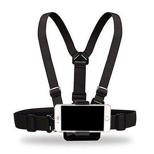 Yoogeer Cellphone Selfie Chest Mount Chest Harness Strap with Cell Phone Clip for iPhone Xs XR Max X 8 7 6 + Samsung Galaxy Note LG Sony
