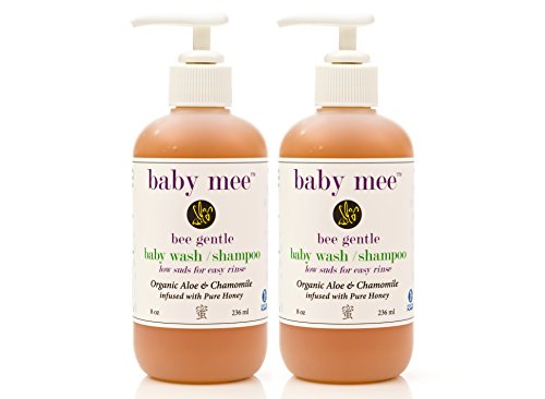 Baby Hair Shampoo & Body Wash - Organic Aloe, Chamomile & Natural Honey For Soothing Eczema, Cradle Cap, and Dry, Itchy, Sensitive Skin & Scalp – Tear Free - for Toddlers and Big Kids Too 2 Pack